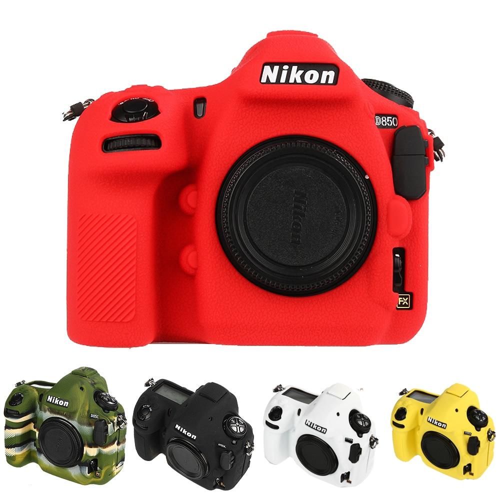 لينة سيليكون المطاط كاميرا واقية الجسم حافظة جلدية لنيكون D500 D4S D4 D800E D800 D850 D810 D7500 حقيبة كاميرا عدسة حقيبة