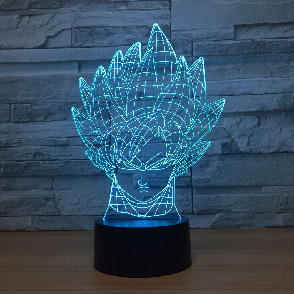 Lámpara de dibujos animados Dragonball 3D LED Niño con estilo dormitorio 3D luz decorativa para noche Bulbing niños juguetes regalo de niño Luminaria Gadget