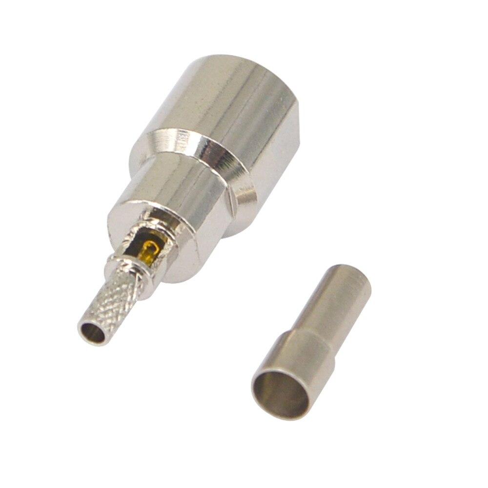 4 piezas FME macho Conector recto para RG316 RG174 RG178 Cable Coaxial conector RF