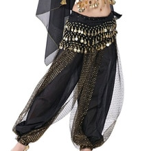 Pantalon de danse du ventre pas cher wanita celana Harem tari perut sifon payet hoki longgar kesalahan besar celana untuk 12 couleur