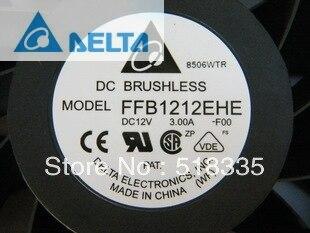 Delta FFB1212EHE 12CM 120MM 1238, 12038, 120x120mm x 38 MM, 12V 3.00A ventilador de refrigeración