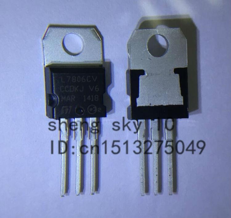 Регулятор напряжения L7806CV L7806 LM7806 7806 TO220 TO-220 IC 6 V, бесплатная доставка, 10 шт.
