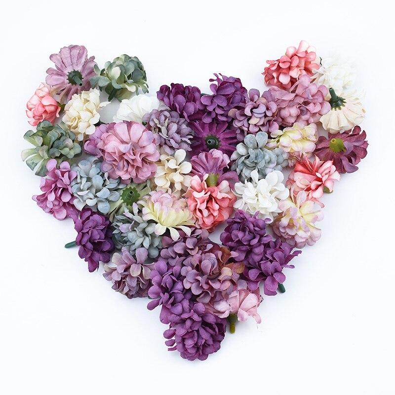 10 шт. вышитые вазы для домашнего свадебного украшения Свадебные аксессуары оформление diy ремесла шелковая Гвоздика искусственные цветы