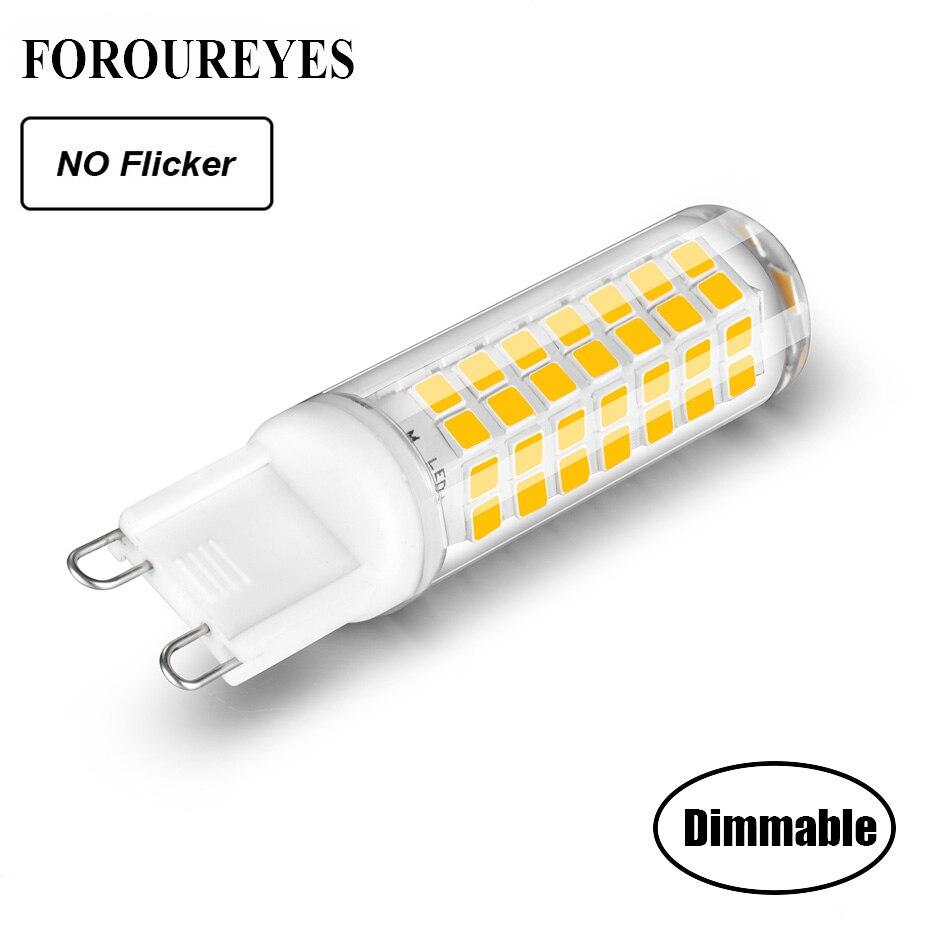 Dimmable G9 LED lámpara sin parpadeo AC220V 110V 5,5 W LED Bombilla super brillante candelabro LED luz reemplazar 70W lámpara halógena