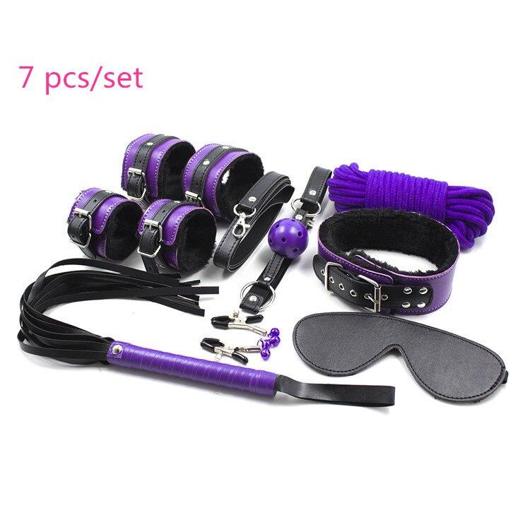 Instrumentos sexuales en venta 8 unids/set de cuero PU juguetes sexuales para adultos BDSM fetiche Bondage juego de arnés de restricción juego de sexo esclavo para hombres y mujeres.