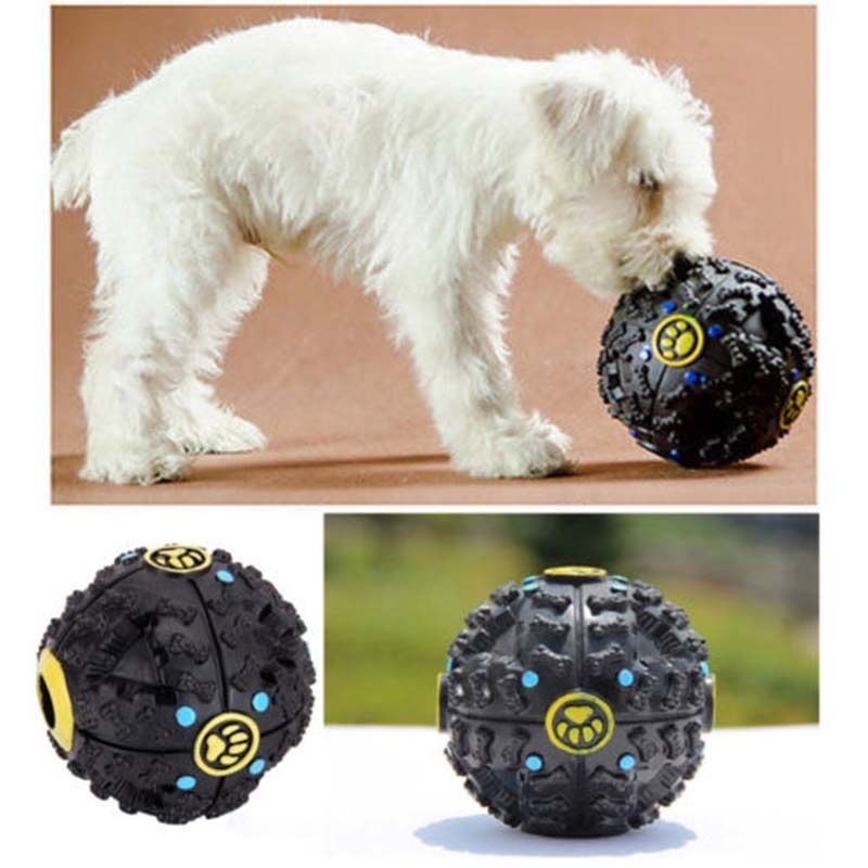 Mascota perro gato cachorro juego tren sonido Squeaky bola masticar soporte para tratar hueso #265
