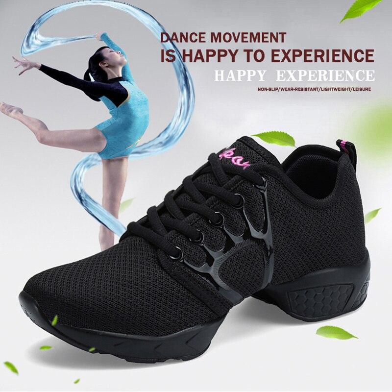 2018 Dans Schoenen Voor Meisje Sport Zachte Zool Adem Vrouwen Praktijk Schoenen Moderne Jazz Dans Schoenen Platform Sneakers Plus Size 41