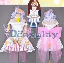 Amor ao vivo! Amor asa sino Rin Hoshizora Hanayome wedding dress cosplay