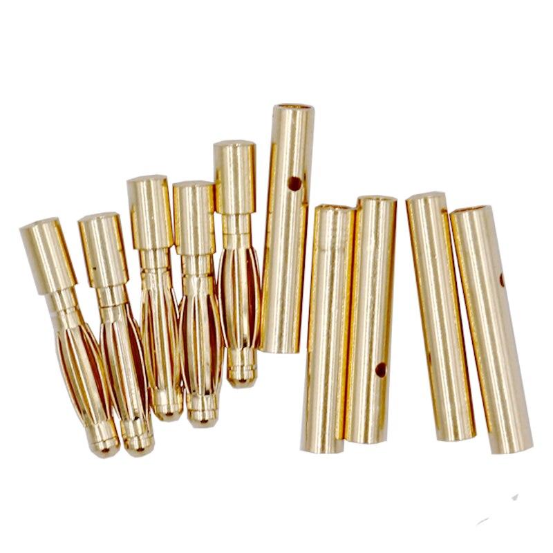 20 пара/лот 2 мм разъем типа банан с золотыми пулями 2,0 мм толстый Позолоченный разъем для аккумулятора ESC lipo скидка 20%