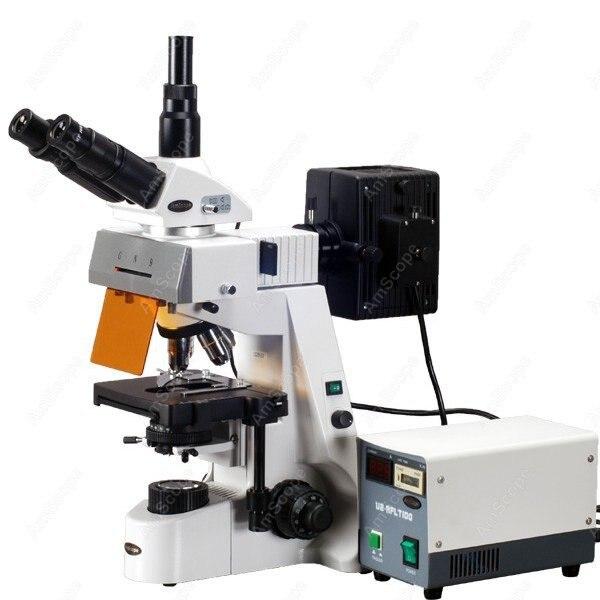 EPI fluorescencia AmScope suministros 40x-2500x infinito extrema Widefield EPI-fluorescente microscopio SKU FM690TC
