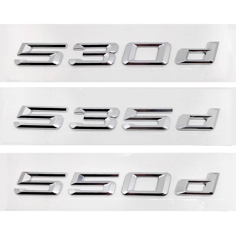 For Bmw 5 Series 530d 535d 550d E12 E28 E34 E39 E60 E61 F10 F11 F07 Rear Trunk Lid Alphabet Letters Badge Emblem Logo Sticker