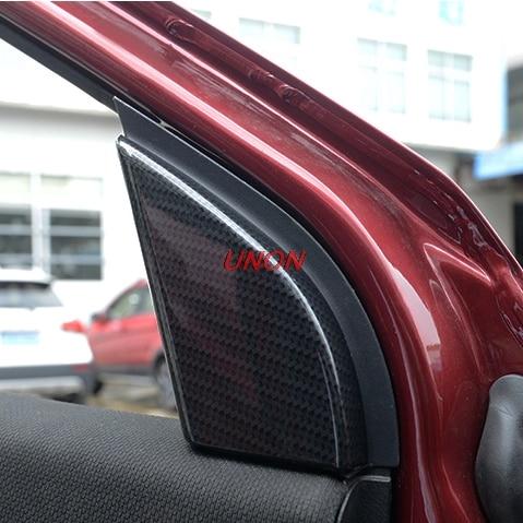 Interior de un poste de Pilar ventana Interior triángulo pegatina para Honda HRV HR-V 2017 2018 accesorios de coche