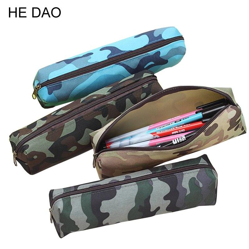Камуфляжный чехол-карандаш для мальчиков и девочек, школьные принадлежности, сумка-карандаш на молнии, 4 вида цветов, 1 шт.