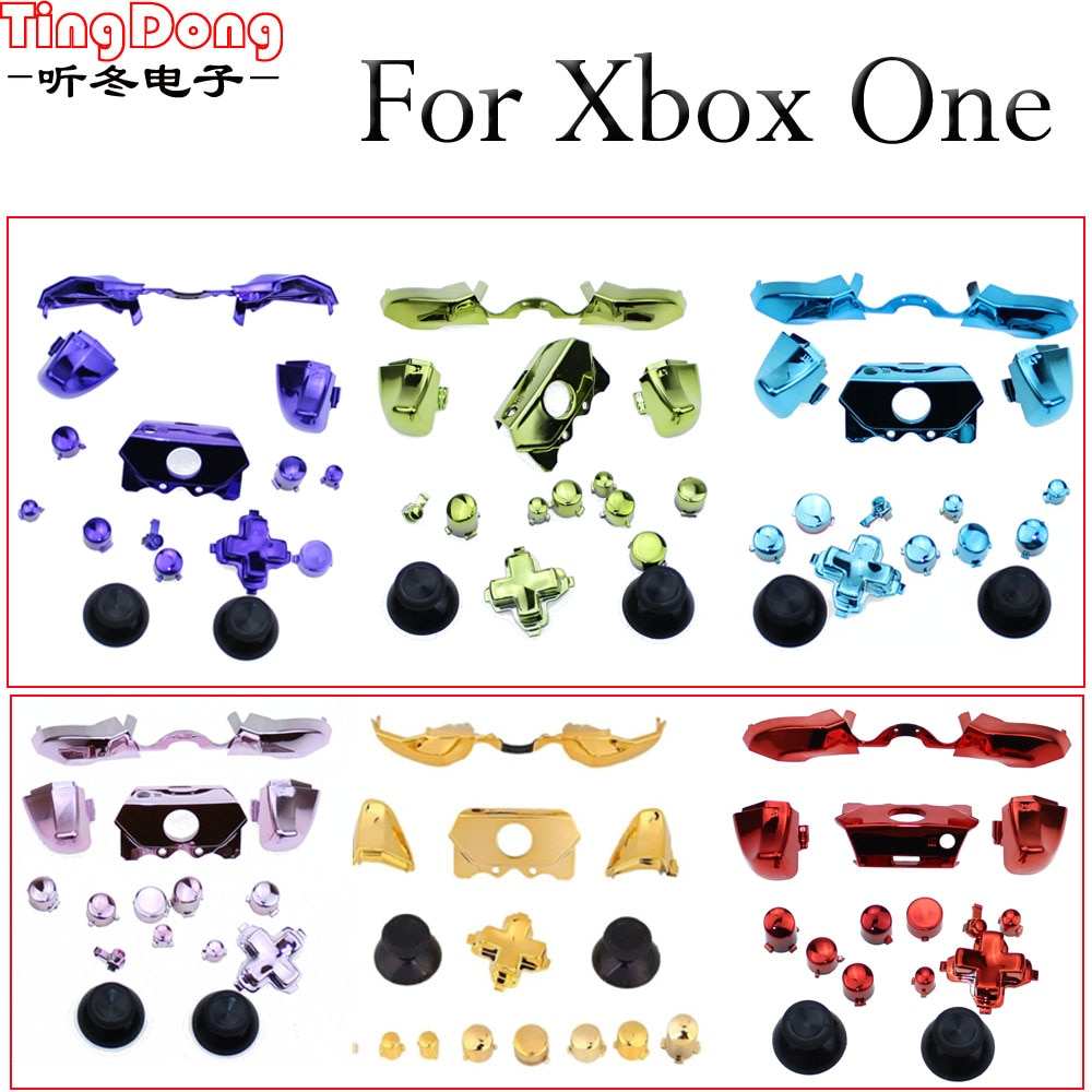 TingDong 16 farben Ersatz Teile Reparatur Full Set Chrome ABXY Dpad Löst Tasten Kits Controller Mod für Xbox One XboxONE