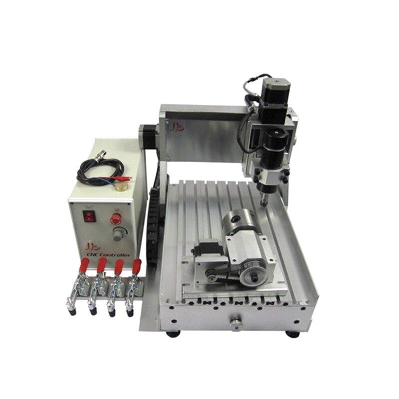DIY LY CNC آلة 3020 3 محاور 500 واط آلة طحن الخشب الصغيرة 4 محاور للخشب pcb نحت البلاستيك