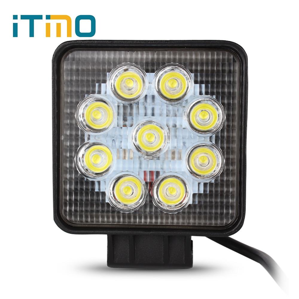 Waterproof 27W LED Work Light Emergency Lighting Lamp 12V 24V Spot Flood Lights For Offroad Construction Working Night Lights