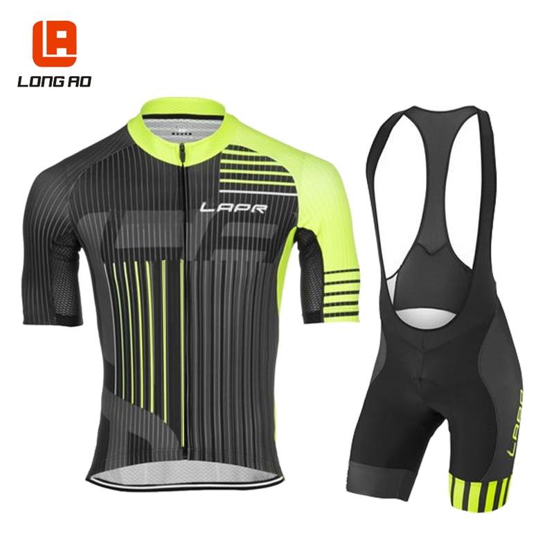 LONG AO 3 colores, Conjunto De Jersey De Ciclismo italiano para hombre, Ropa De Ciclismo De manga corta para Ciclismo, conjunto De Jerseys deportivos para Ciclismo