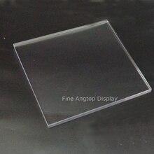 200x200x10mm clair acrylique artisanat blocs affichage marque logo brique bijoux ensembles panneau daffichage fenêtre montrant stand