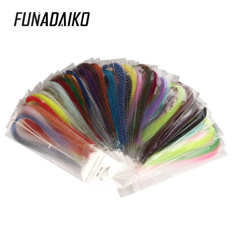 Funadaiko fly tylig УФ Голографическая мишура витая Flashabou джиг крючок помощь приманка делая материал Морская рыбалка Связывание Кристалл Вспышка