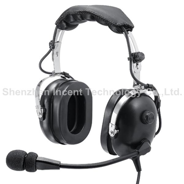 VOIONAIR Black Pilot Headset PNR (Passive Noise Reduction) Aviation Headset IN-1000