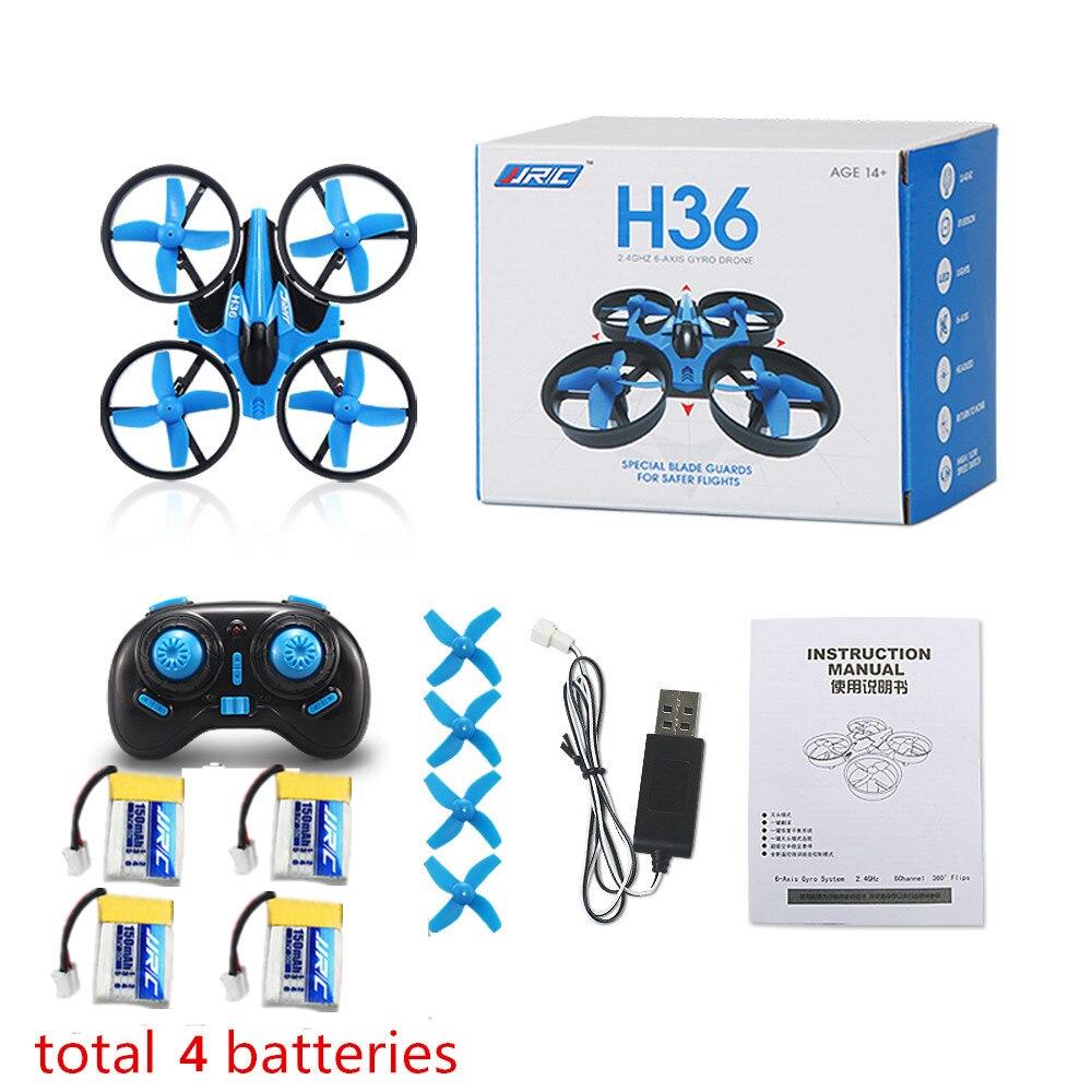 Mais novo mini zangão jjrc h36 6 eixos rc micro quadcopters com modo sem cabeça drones um retorno chave rc helicóptero vs jjrc h8 dron