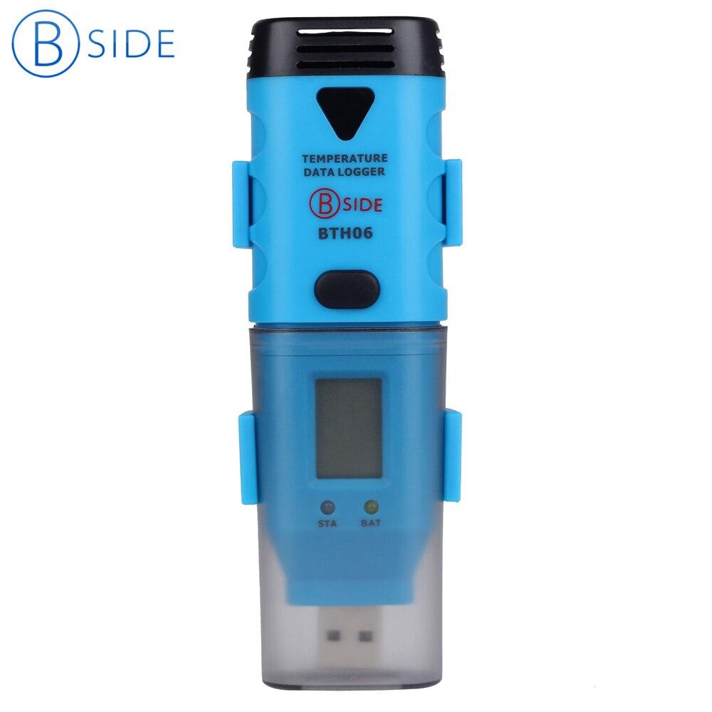 Registrador de datos USB BSIDE BTH06 de alta precisión/sonda de temperatura de registro de temperatura grabadora externa de datos en tiempo Real