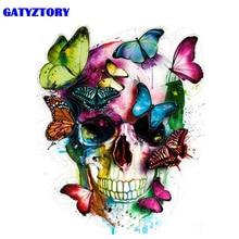 Gatyztoire-cadre abstrait papillon   Kit de peinture main par numéros, toile dart murale moderne, peinture, cadeau Unique pour décoration intérieure