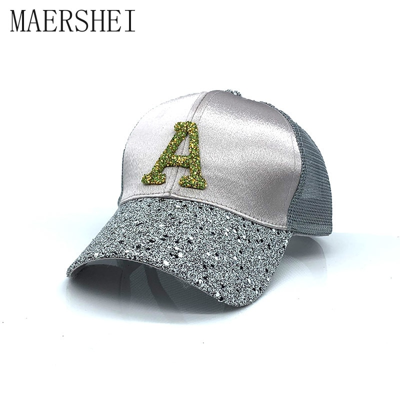 MAERSHEI 2019 Nuevo monograma gorra de protección solar marca de lujo gorras de béisbol Srping/verano al aire libre Casual Unisex sombrero de moda para las mujeres
