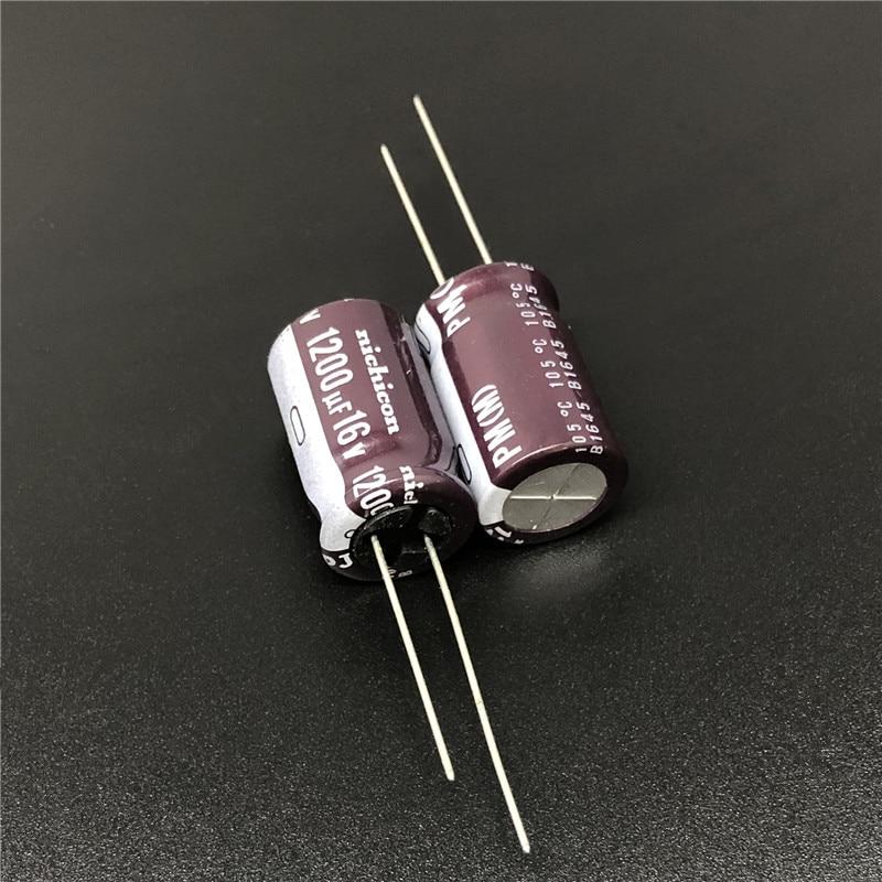 5pcs/50pcs 1200uF 16V NICHICON PM Series 12.5x20mm 16V1200uF Low Impedance Aluminum Electrolytic capacitor