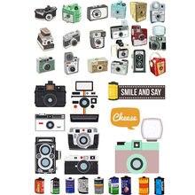 2 pcs/lot Vintage Camera and Film  Cosas Kawaii Uncut Stickers Scrapbooking Stationery Washi Tape Set School Supplies