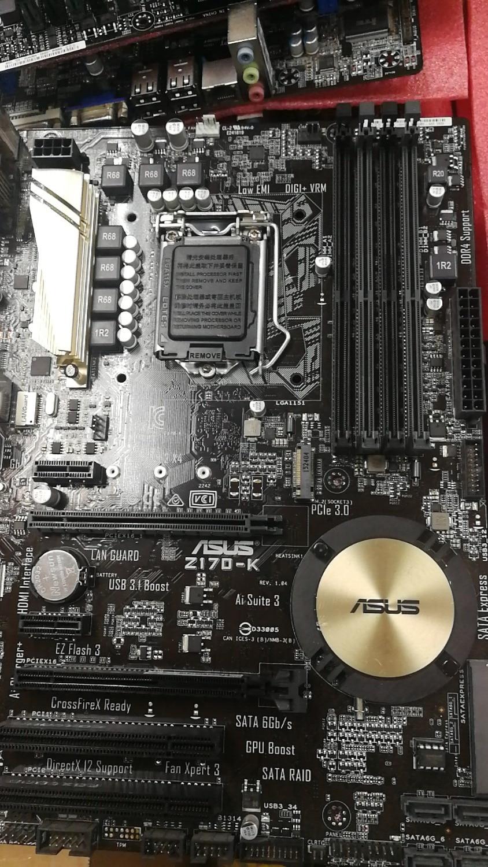 Asus-placa base de escritorio Z170-K usada, Z170, Socket LGA 1151, i7, i5,...
