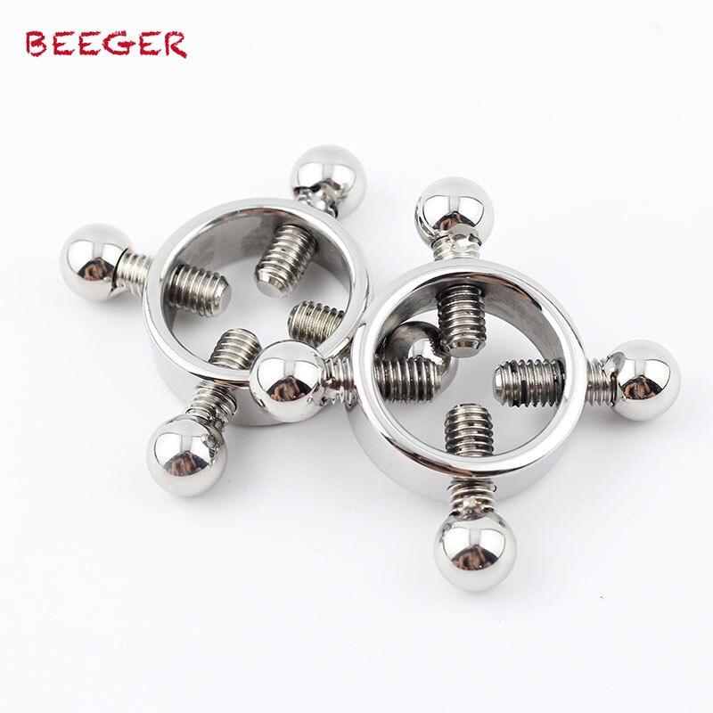 BEEGER Master Series Anéis de Fogo de Aço Inoxidável Braçadeira Mamilo Conjunto