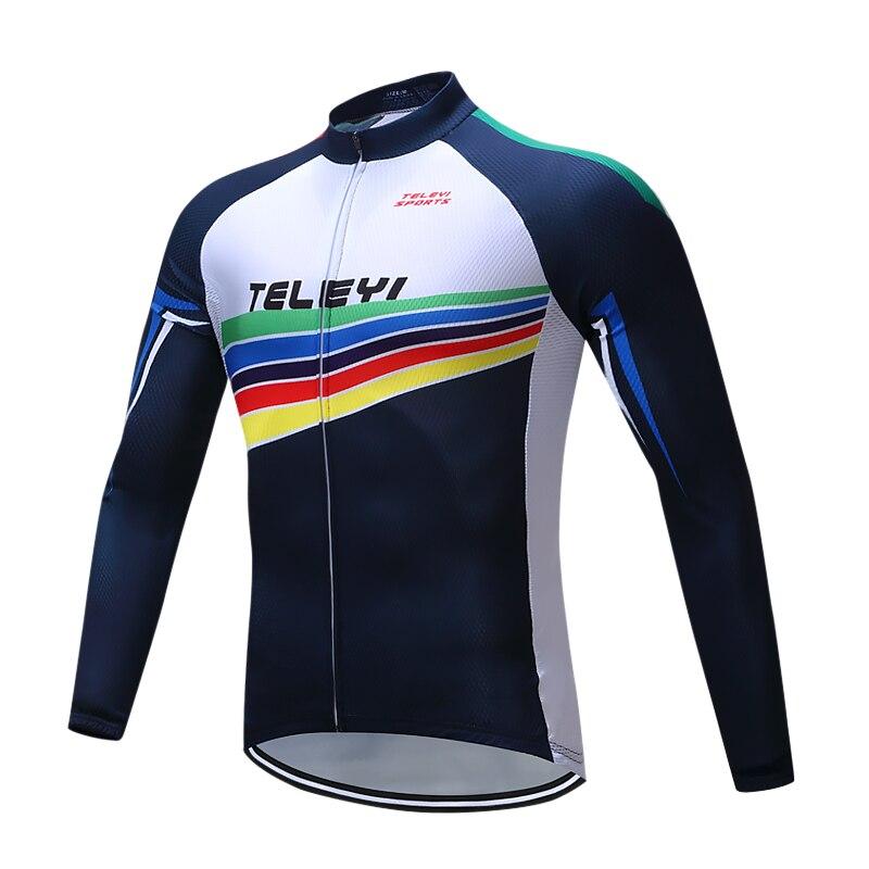 TELEYI-Jersey De Ciclismo De manga larga, Ropa De Ciclismo De montaña, maillot