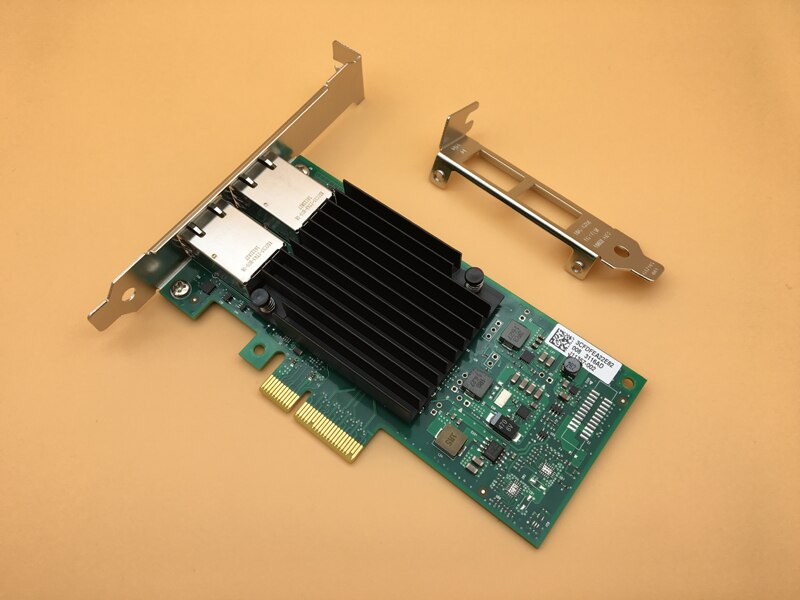 Nuevo X550T2BLK 10 Gigabit Ethernet adaptador de red convergente X550-T2 tarjeta de red