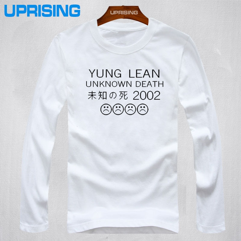 Nuevas camisetas de manga larga de algodón para hombre YUNG LEAN UNKNOWN DEATH Sad Boys, camisetas de verano hip hop Rap Casual Wear Tees 10 colores XS-2XL