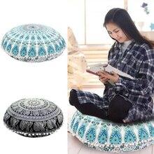 Oreiller en Textile 43*43CM   Housse de coussin rond bohème, pour oreillers de Mandala indiens, livraison directe