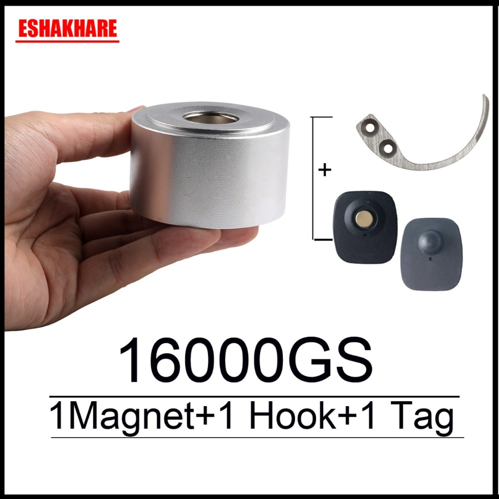 Magentic Detacher 16000GS Alarm Tag Remover Super Lock For RF8.2Mhz EAS Systems Key Detacher  Hook Free Alarm 1+1+1 Free Ship