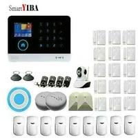 YIBA-alarme intelligente WiFi GSM GPRS   RFID  systeme de securite de Surveillance a domicile  camera IP sans fil  sirene  capteur de fumee