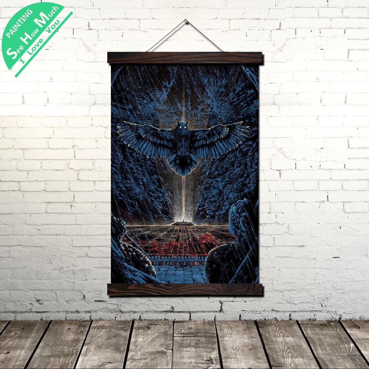 Póster Artístico impreso en lienzo moderno con búho de ciencia ficción, rollo de pintura para pared, ilustraciones, póster para pared, imágenes para decoración del hogar