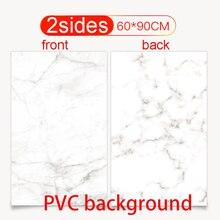 60X90cm PVC Doppel seiten Fotografie Kulissen Wasserdichte Premium Marmor Textur Hintergrund Für Foto Lebensmittel Schmuck Mini Artikel
