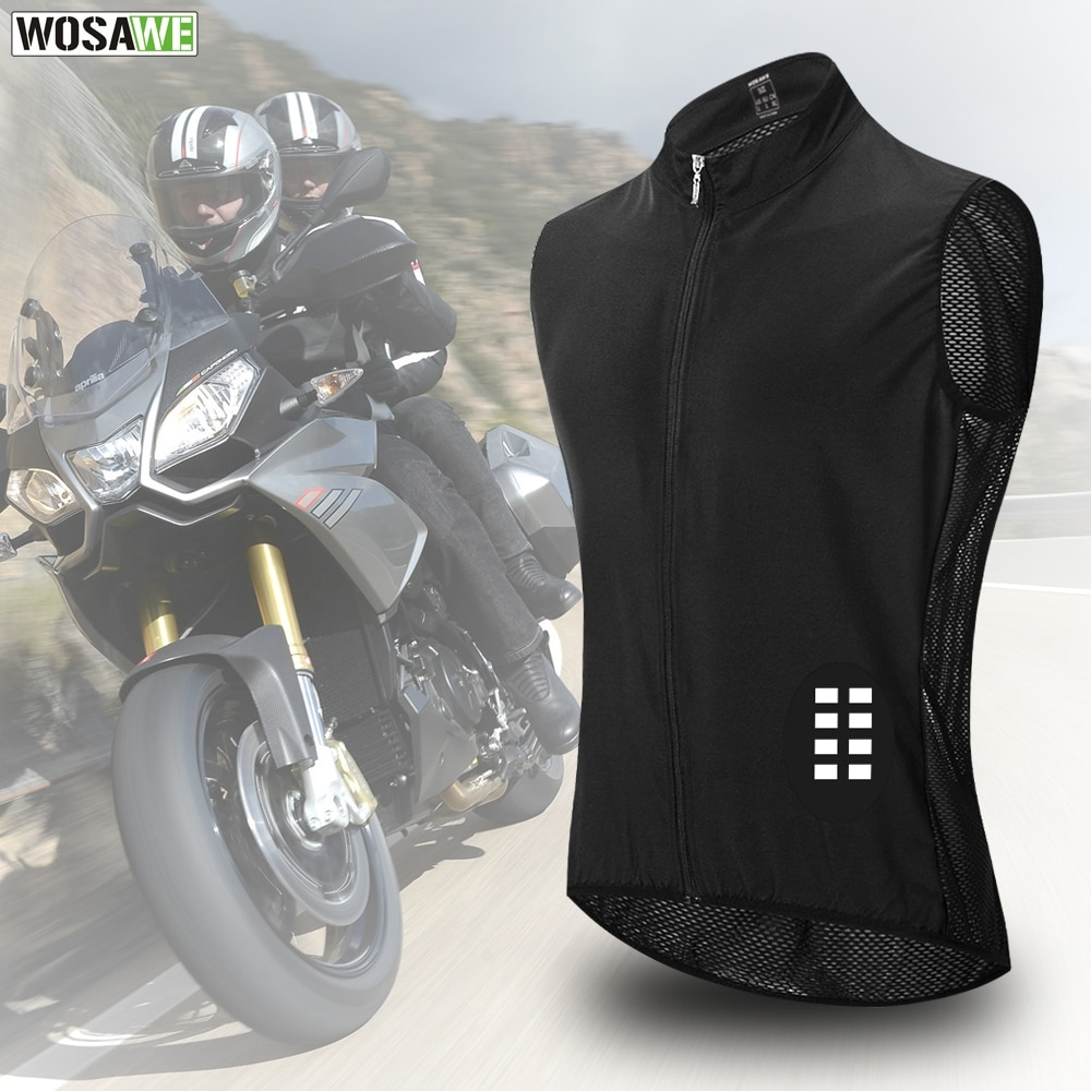 top good motorcycles military enthusiasts summer wear breathable mesh fabric hard protective overalls motorcycle clothing 507g WOSAWE Motorcycle Reflective Vest Windproof Breathable Mesh Fabric Summer moto Motocross Racing Vest Bike MTB Clothing