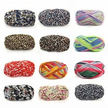 100g/ball Colorful Dyeing Yarn For Knitting Carpet Mat Diy Storage Bag Handbag Fabric Big Crochet Cloth Fancy Yarn