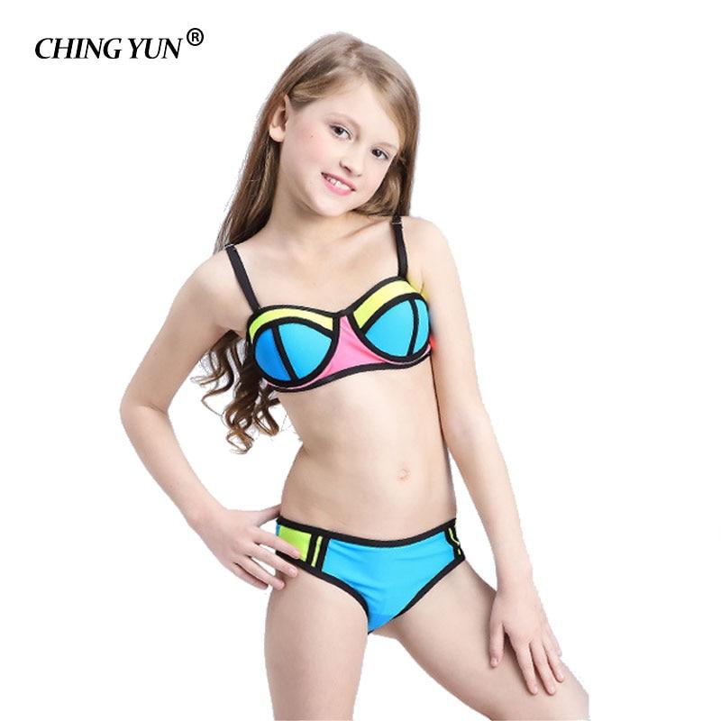 Traje de baño Bikini para niños, ropa de fútbol bonita, traje de baño de dos piezas para niños, traje de baño de playa Tankini multicolor para niñas