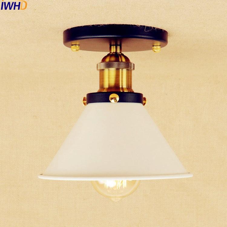 sahde branco levou luzes de teto para sala de estar quarto de iluminacao edison vintage