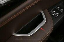 Yimaautotrims الداخلية الباب مسند ذراع غطاء إطاري تقليم ل BMW X3 F25 / X4 F26 2012 2013 2014 2015 2016 2017 ABS الداخلية أفاريز
