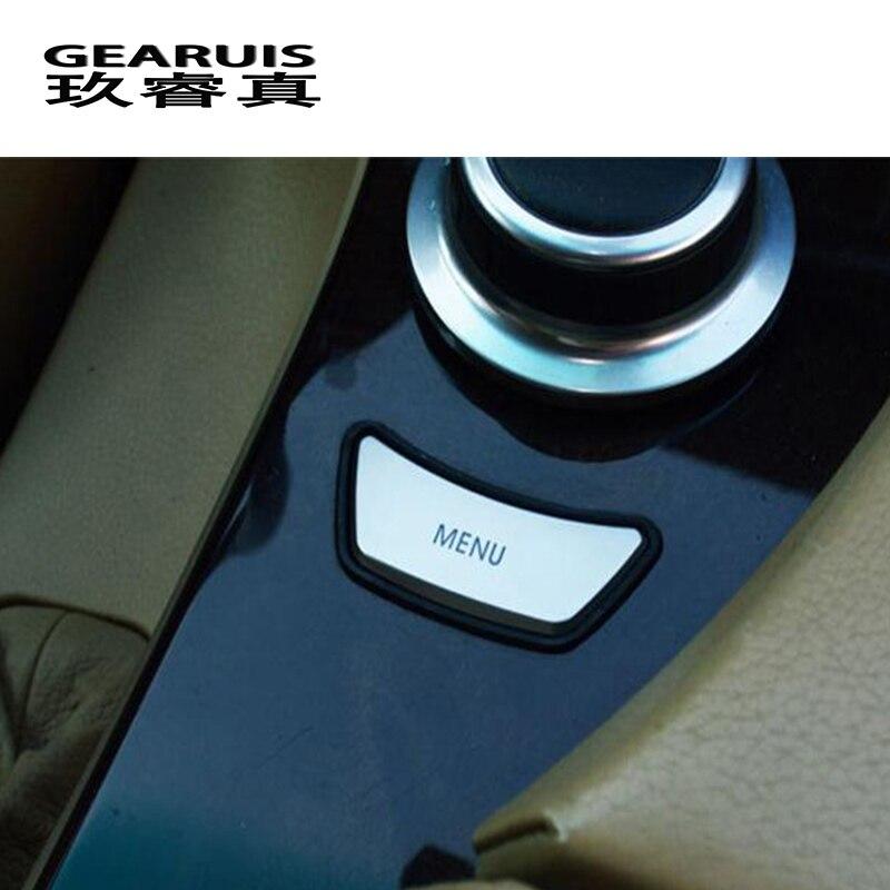 Автомобильный Стайлинг интерьер мультимедиа управление Меню Кнопка отделка Наклейка Обложка для BMW e60 E90 3 5 серии X5 X6 E70 E71 автомобильные аксессуары