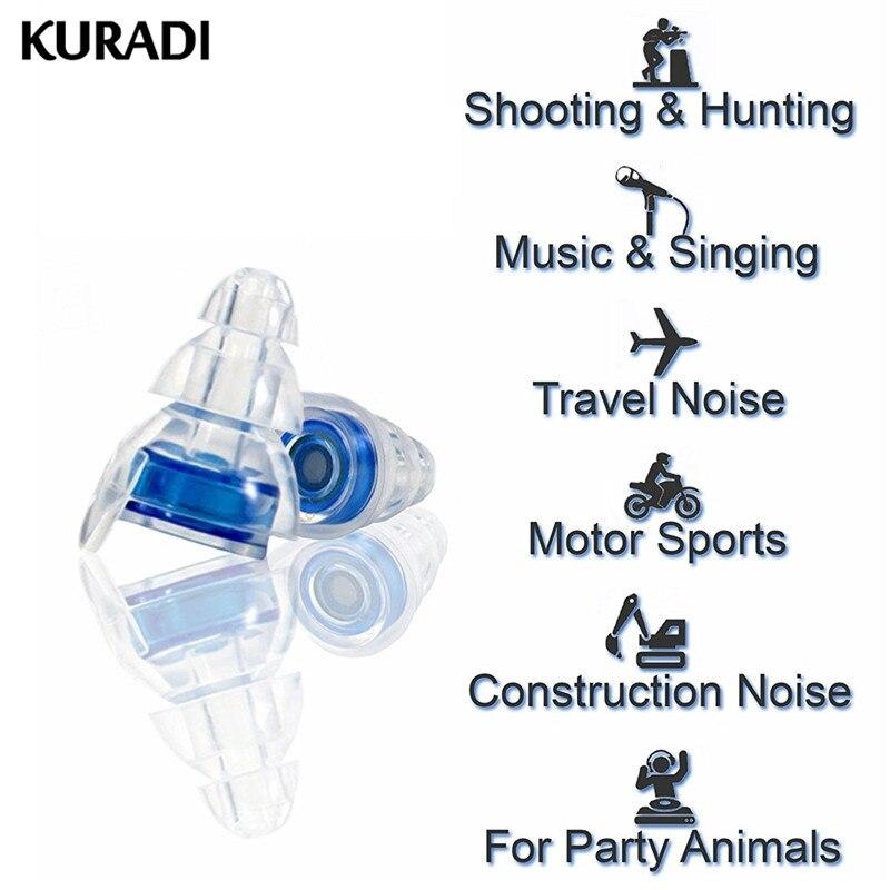 1 pçs 20db macio silicone tampões de ouvido ouvido proteção auditiva reutilizável música earplugues redução ruído ajuda concertos dj bandas barra esporte