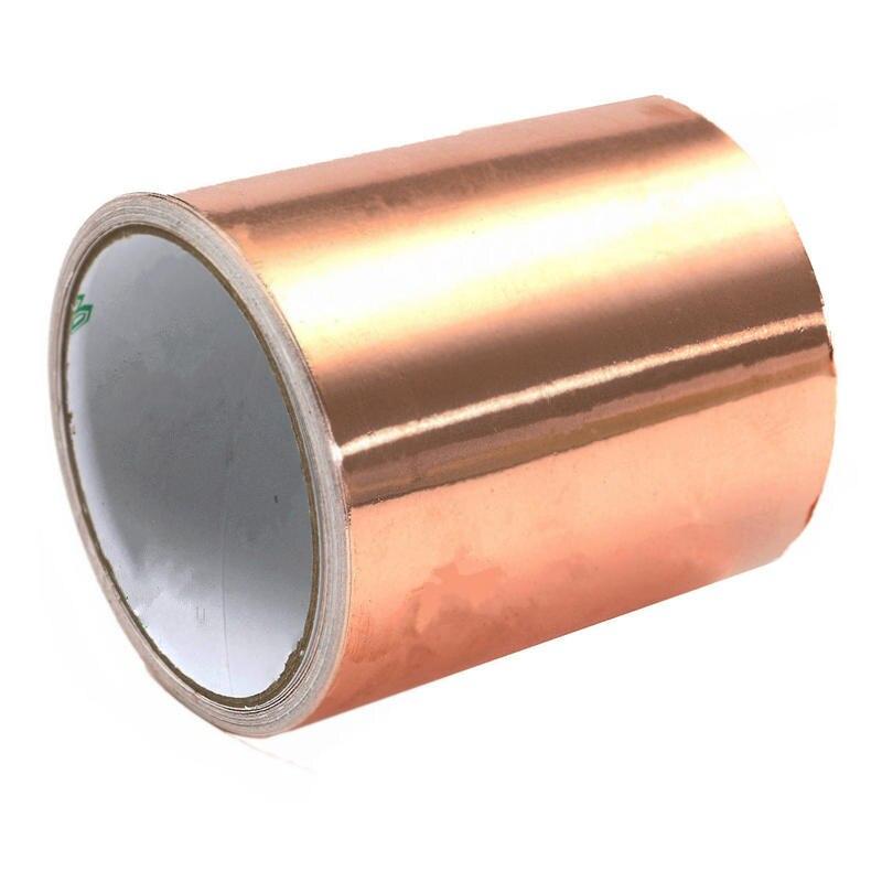 100mm x 5M Adhesive Single Face Electric Conduction Copper Foil Tape EMI Shielding Guitar Slug and Snail Barrier