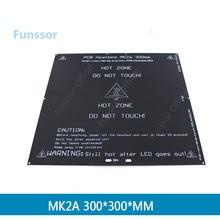Funssor 300*300 PCB lit chaud 3 MM MK2A plaque daluminium