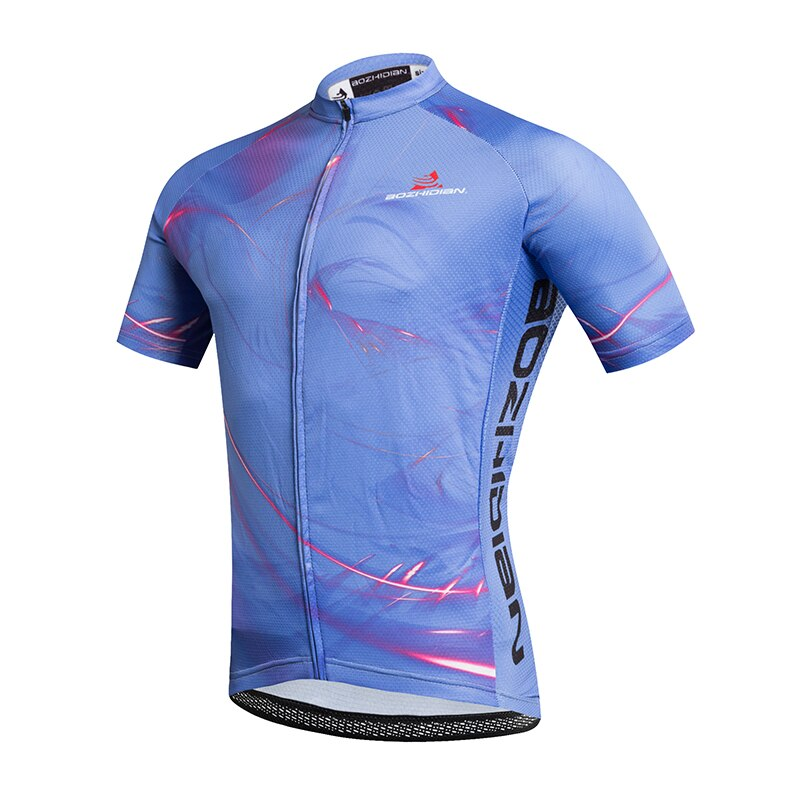 2019 Cool verano Ciclismo Jersey azul hombres mujeres transpirable camino Unisex bicicleta Ropa secado rápido Ropa Ciclismo